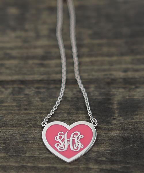 silver heart enamel web